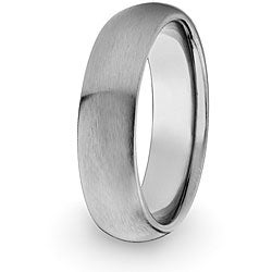 West Coast Jewelry Men's Titanium Domed and Brushed Comfort-fit Band (7 mm)