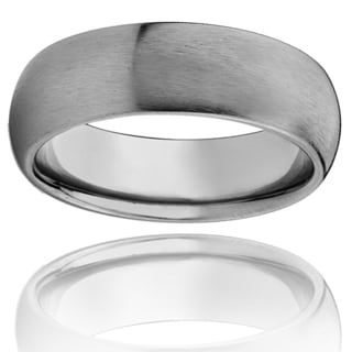 Men's Titanium Domed Brushed Band (8 mm)