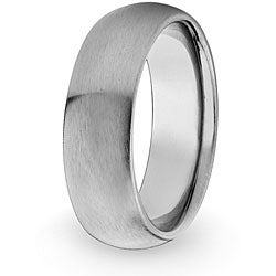 West Coast Jewelry Men's Titanium Domed Brushed Band (8 mm)