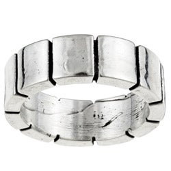 Kabella Gerald David Bauman Oxidized Silver Wide-block Band