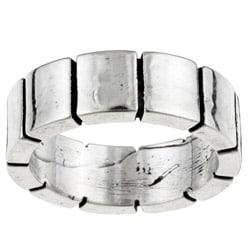 Kabella Gerald David Bauman Oxidized Silver Wide-block Band