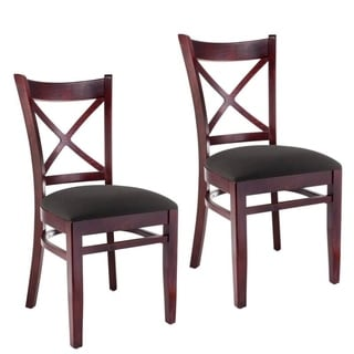 X-back Dark Mahogany Side Chair (Set of 2)