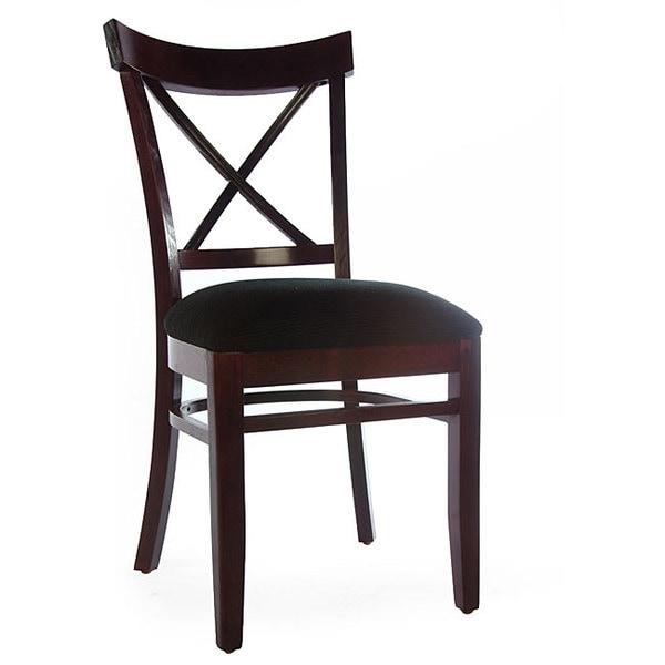 X-back Dark Mahogany Side Chair (Set of 2)