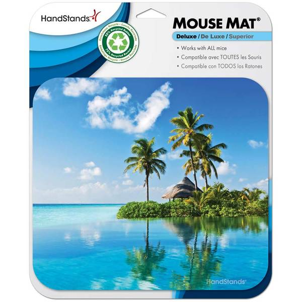'Beach' Deluxe Antimicrobial Mouse Pad