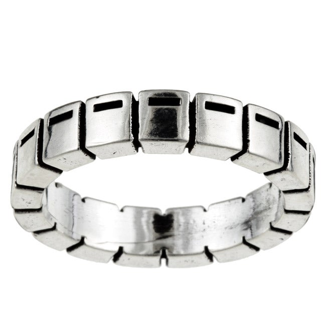Kabella Gerald David Bauman Oxidized Silver Commitment Ring
