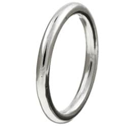 Kabella Gerald David Bauman Men's Silver Wedding Band