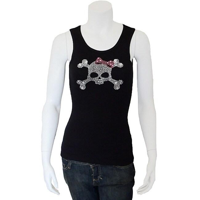Crazy Haute Women's Rhinestone Skull Tank Top