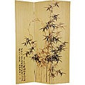 Frameless Black Bamboo 6-foot Room Divider (China)