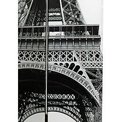 Canvas Double-sided Eiffel Tower Room Divider (China)