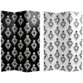 Canvas Damask Double-sided Black and White Room Divider (China)