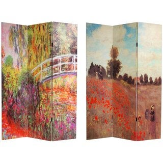 Canvas Double-sided Monet Paintings Room Divider (China)