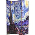 Canvas Double-sided Van Gogh Paintings Room Divider (China)
