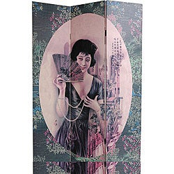 Shanghai Ladies Canvas Double-sided Room Divider (China)