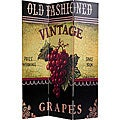 Canvas Double-sided Grapes and Cherries Room Divider (China)