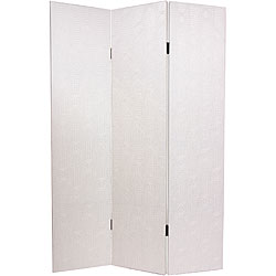 Faux Leather Antique White Snakeskin Room Divider (China)