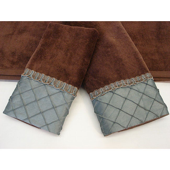 Sherry Kline Pleated Diamond Decorative 3-piece Towel Set