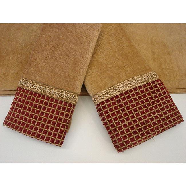 sherry kline modern checks decorative 3 piece towel set 11976657