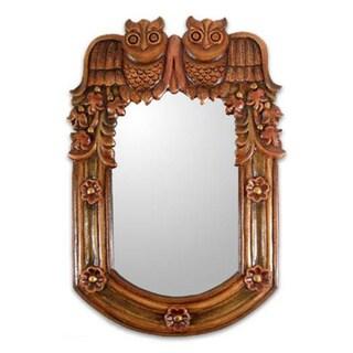 Handmade 'Night Owls' Mirror (Peru)