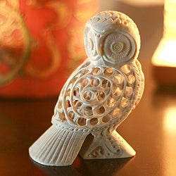Soapstone 'Mother Owl' Sculpture (India)