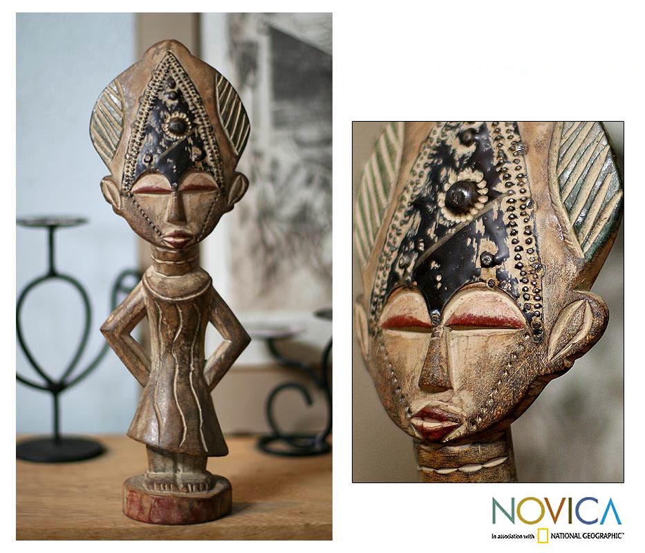 Wood 'Sweetheart' Statuette , Handmade in Ghana