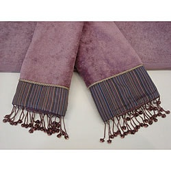 Sherry Kline Silk Striped 3-piece Decorative Towel Set