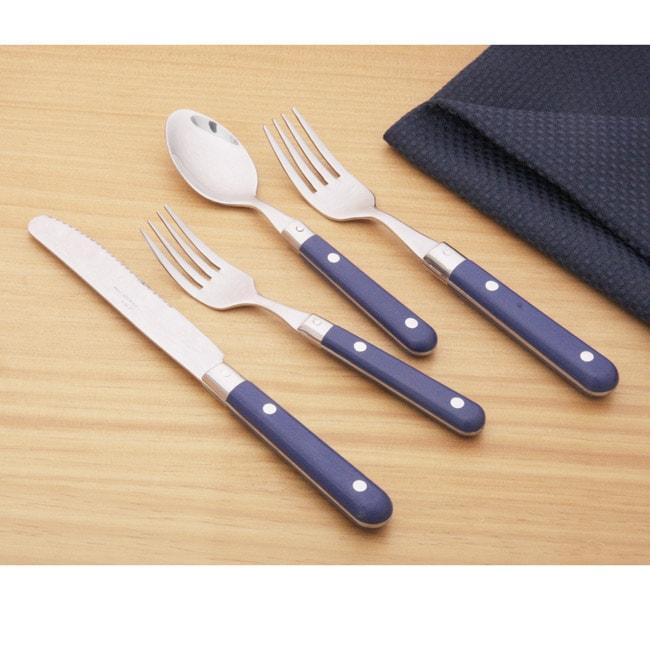 Ginkgo Le Prix 20 Piece Royal Blue Flatware Set 11972519