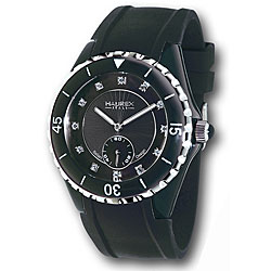 Haurex Italy Women's Riviera Black Mother of Pearl Watch Model # 1N337DNS