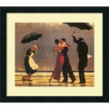 Jack Vettriano 'The Singing Butler' Framed Art Print with Satin-Black Laminate Frame
