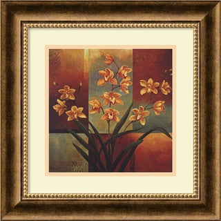 Jill Deveraux 'Orange Orchid' Framed Art Print