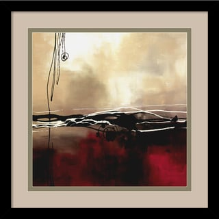 Laurie Maitland 'Symphony in Red and Khaki I' Framed Art Print