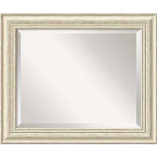 Medium Country Whitewash Wall Mirror
