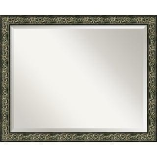 Green Provencal Scroll Large Wall Mirror