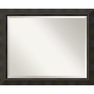 Wall Mirror Large, Signore Bronze 33 x 27-inch - large - 33 x 27-inch