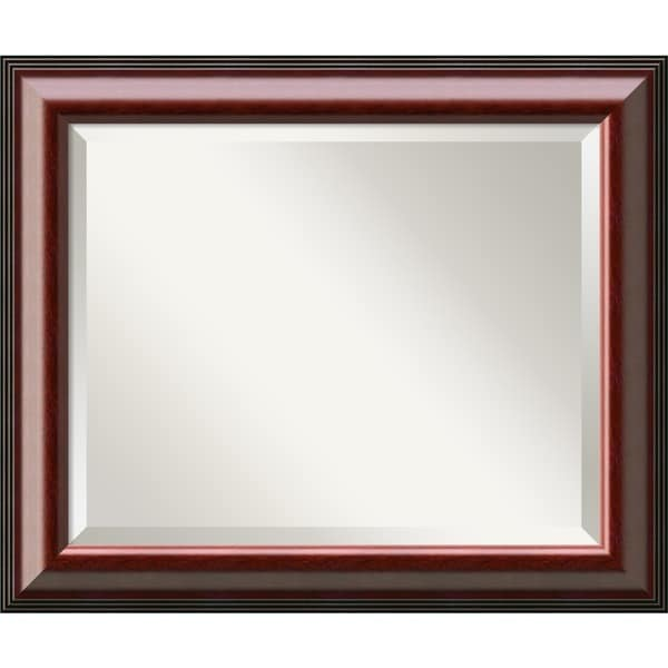Cambridge Mahogany 24 x 20 Medium Wall Mirror
