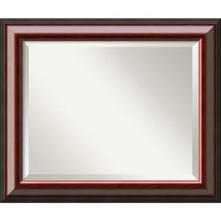 Cambridge Mahogany 24 x 20 Medium Wall Mirror