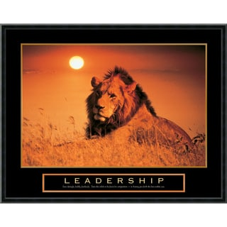 'Leadership - Lion' Framed Art Print