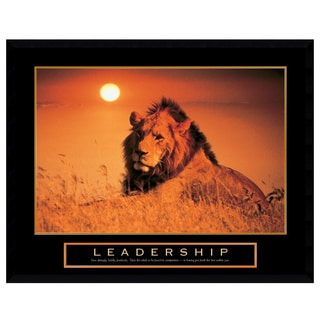 Leadership - Lion' Framed Art Print