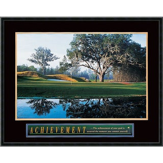'Achievement: Golf' Framed Art Print