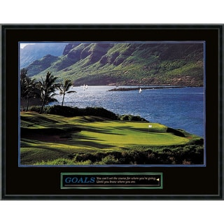 'Goals - Golf' Framed Art Print