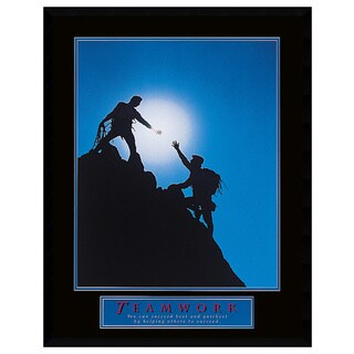 Teamwork - Climbers' Framed Art Print