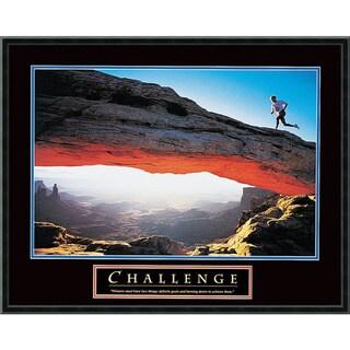 'Challenge: Runner' Framed Art Print