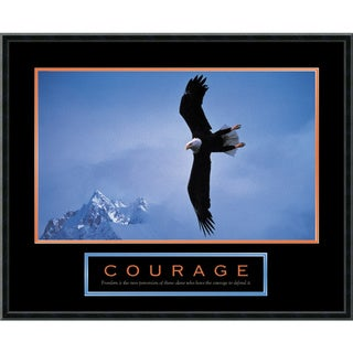 'Courage: Bald Eagle' Framed Art Print