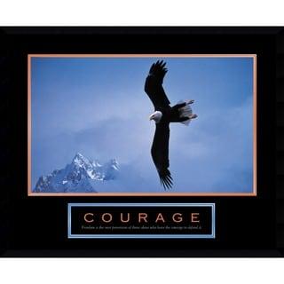 Courage: Bald Eagle' Framed Art Print