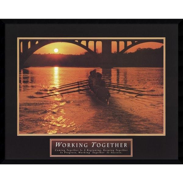 Working Together-Teamwork-Crew' Framed Art Print