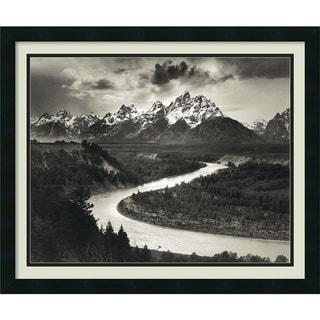 Ansel Adams 'The Tetons and the Snake River, Grand Teton National Park, Wyoming, 1942' Framed Art Print