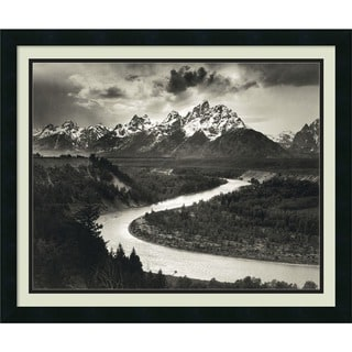 Ansel Adams 'The Tetons and the Snake River, Grand Teton National Park, Wyoming, 1942' Framed Art Print