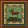 Warren Kimble &#39;Folk Moose&#39; Framed Art Print