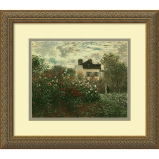 Monet 'Artist's Garden at Argenteuil' Horizontal Framed Art Print