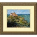 Claude Monet 'Fishermans Cottage' Framed Art Print