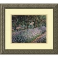 Claude Monet 'Jardin a Giverny (Garden at Giverny)' Framed Art Print